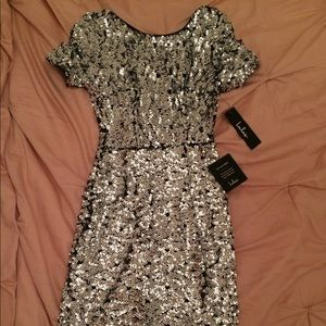 sequin body con dress.